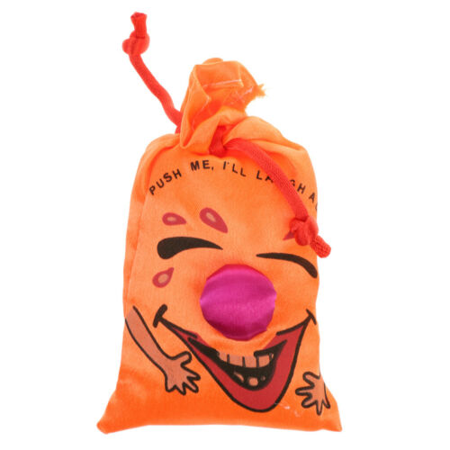 Novelty Push me I will Laugh a Lot Ha Ha Laughing Bag Joke Toy Party Gift Favor
