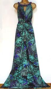 Uk 20 Prachtige Maxi Lois Butterfly Monsoon zomer jersey jurk ✩ verfraaid vaxnzn