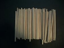"Lot Of 50 Wooden Dowel Rods. 5/16"" X 7 1/2""  For Crafts, Cakes, & Projects NEW"