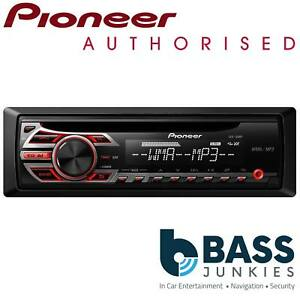Pioneer DEH-150MP 50x4 Single Din CD MP3 AUX Car Stereo Radio Player Red Display
