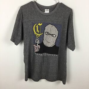 Crooks-and-Castles-Size-M-T-Shirt-Gun-Mugger-Grey-Tee