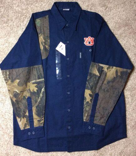 Columbia Men/'s University of Auburn Long Sleeve Button Shirt PHG Camo Tigers L