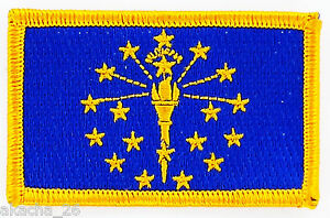 Ecusson Brodé Patch Drapeau Indiana Usa Americain Etats Unis Flag Embroidered Pk4kdmbh-08004939-819217212