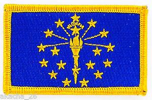 Ecusson Brodé Patch Drapeau Indiana Usa Americain Etats Unis Flag Embroidered Pk4kdmbh-08004939-819217212