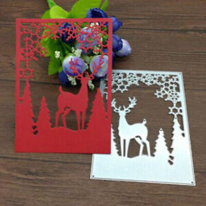 Christmas-Tree-Elk-Snowflake-Metal-Cutting-Dies-Stencil-Scrapbook-EmbossingL-SG