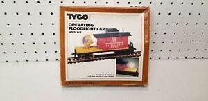 Vintage-Tyco-HO-scale-model-train-Operating-floodlight-car-AHM-Athearn-life-like
