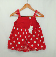 Gymboree Polka Dot Ladybug Sz 10 Girls Red Layered Swing Top Dots