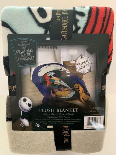 Nightmare Before Christmas Jack Skellington Sally Plush Blanket Halloween