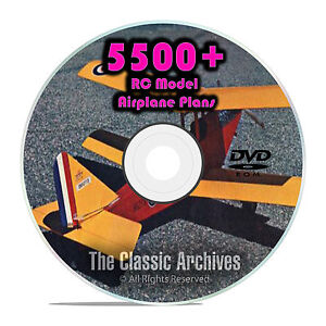 Details about 5,500 RC Model Airplane Plans, Gliders, Electric, Scale,  Templates PDF DVD G51