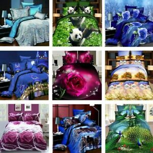 3D-Effect-4-Pcs-Quilt-Duvet-Covers-With-Fitted-Sheet-Bedding-Set-2-Pillow