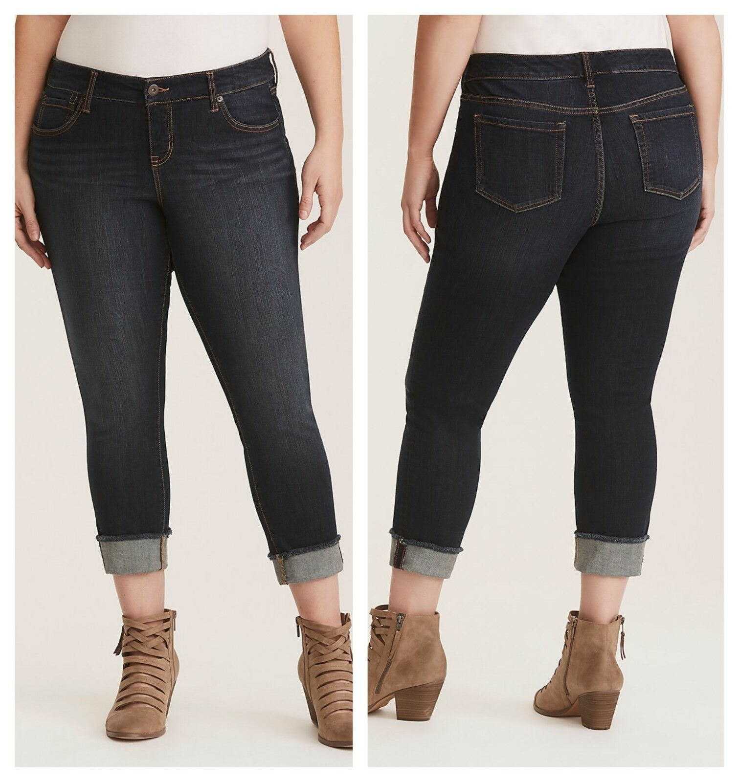Torrid Premium Stretch Boyfriend Jeans Everglades 1X 16