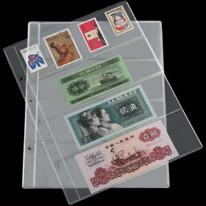 10 Pages Note Holder Currency Paper 4 Pockets Storage Money Album Sleeves Sheets 625678376679