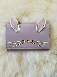 3c3c43f9809 NWT Kate Spade Hop To It Rabbit Winni Leather Bunny Bag Wallet ...