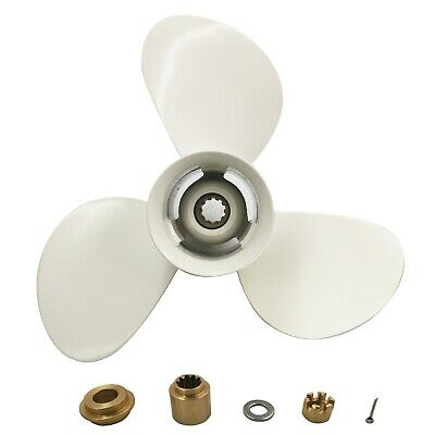 9 7//8x10 1//2-F Aluminum Outboard Propeller for Yamaha 20-30 HP