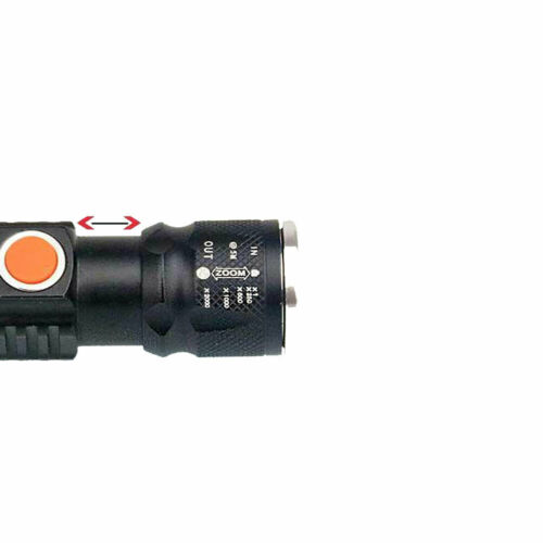 SKYWOLF Tactical USB Torch Flashlight Zoom 1000LM Built rechargeable Battery