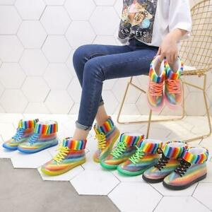 Women-Ankle-Rain-Boots-Cover-Platform-Lace-Up-Waterproof-Riding-Motorcycle-Boot