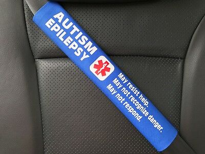 Autism Epilepsy Medical Alert Seat Belt Safety Cover