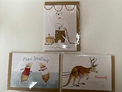 Anthropologie Christmas//Gift Cards Gingerbread Man//Cat//Cow//Dog Blank Inside