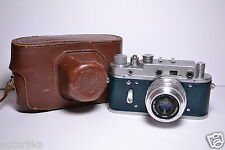 ZORKI 2C Blue body Soviet/Russian 35mm Rangefinder Camera, Industar-50 (3.5/50)