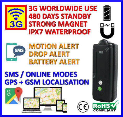 Portable Magnetic with Long Battery Life 3G GPS Tracker Security Functions