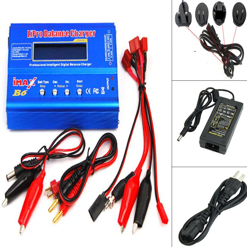 IMax IMax IMax B6 80W Lipo Nimh Nicd RC Battery Balance Charger Discharger + AC Adapter c36914