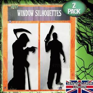 Halloween-Decorations-Window-Silhouettes-Grim-Reaper-Chain-Saw-Killer