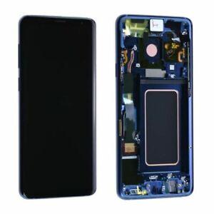 LCD S9 G960F ECRAN LCD VITRE TACTILE SAMSUNG GALAXY AVEC CHASSIS BLEU