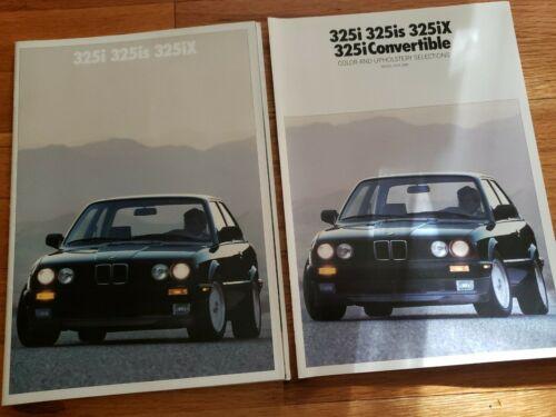 1990 BMW 325i 325is 325iX Brochure /& Color Chart E30 3-Series 325 i is iX