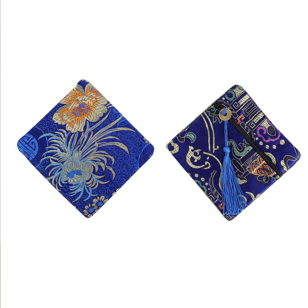 Multi-colors Silk Blessing Coin Purse Women Fashion Wallet for Mom 12pcs