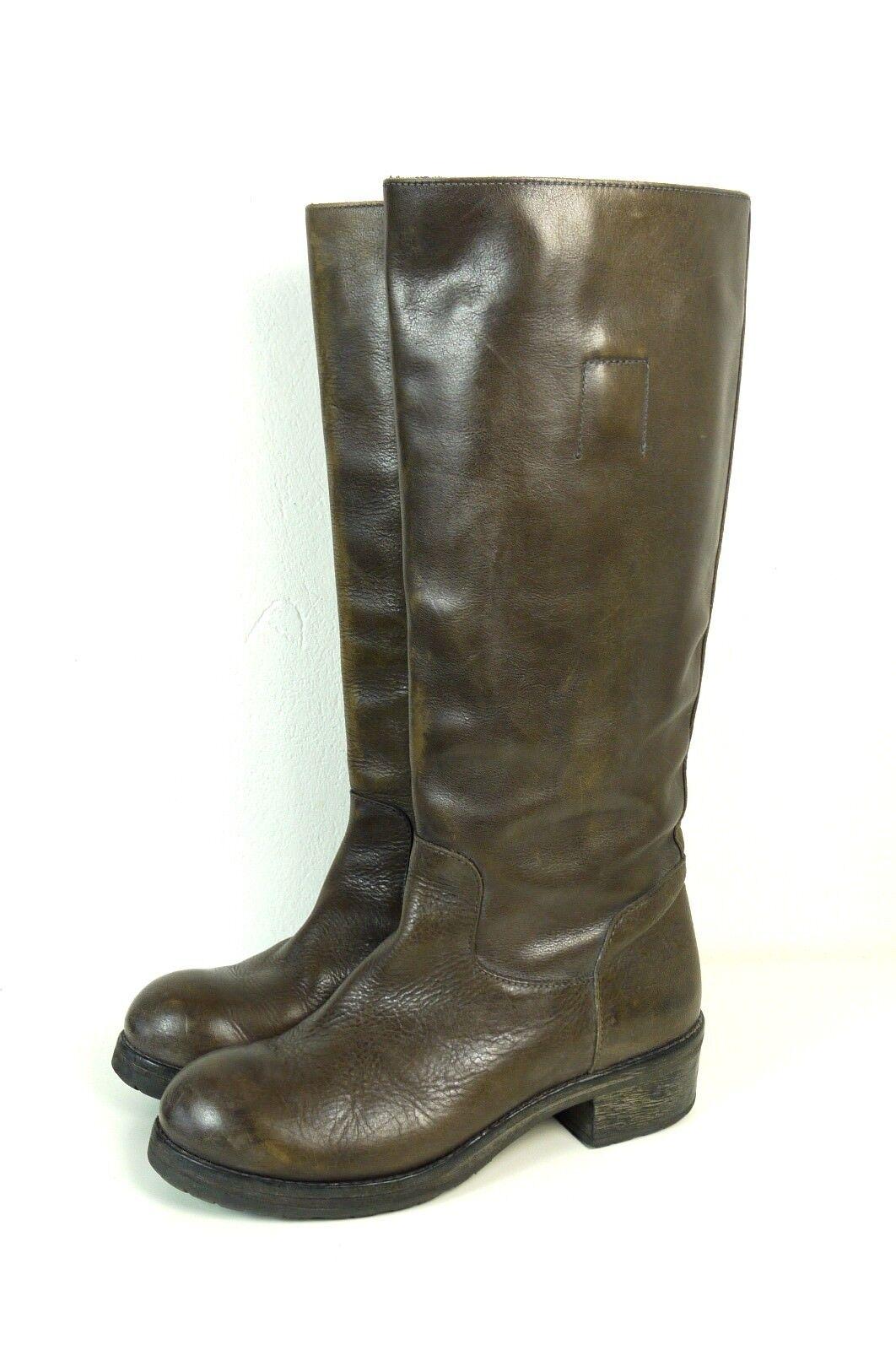 Moma botas motorista Echt Leder marrón talla (t110)