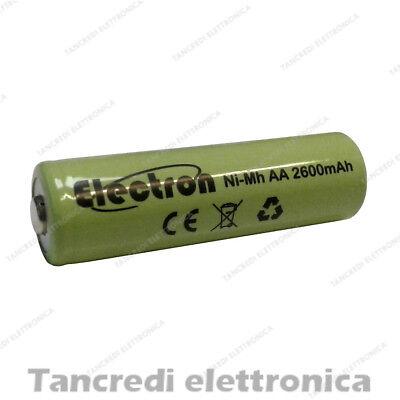 Batteria Pila Ricaricabile Ni-Mh AA Stilo 1,2V 2000mAh 14x50mm ready to use