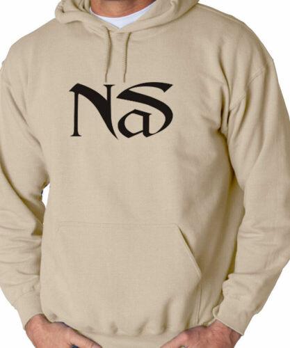 Nas Hip Hop Rap Sweatshirt Hoodie Classic Nasir New York Rap illmatic BLACK LOGO