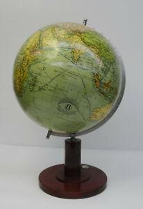 Antiker-Globus-Heimglobus-Columbus-Drei-Kegel-Verlag-Kolonien-Erdglobus-1920