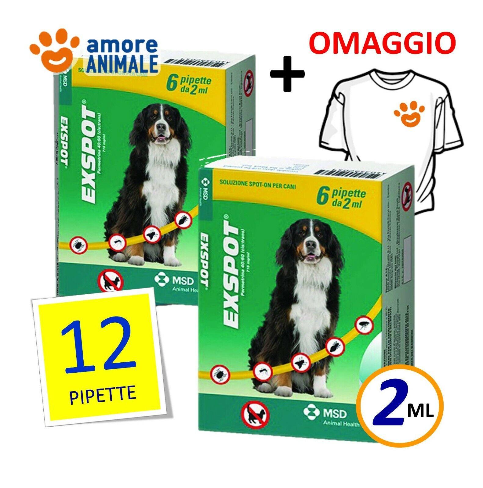 2 CONFEZIONI M  Exspot 6 pipette 2   per Cani da 41 kg a 55 kg → 12 pipette