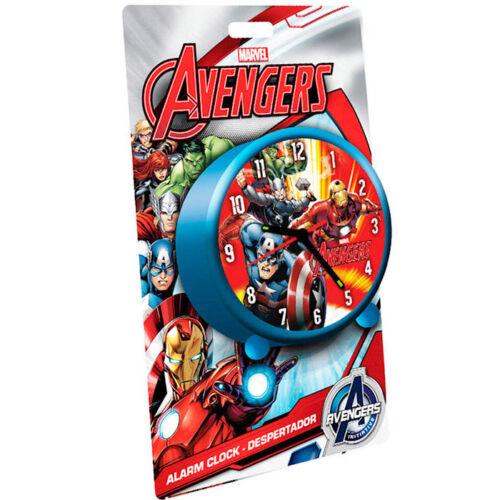 Sveglia Analogica Da Tavolo Bambini Marvel Avengers I Vendicatori 9 cm Azzurro