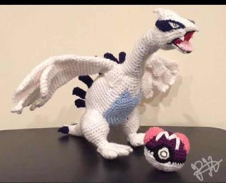 Handmade Crochet Pokemon Plush Toy- Lugia Legendary Pokemon Pokemon Go