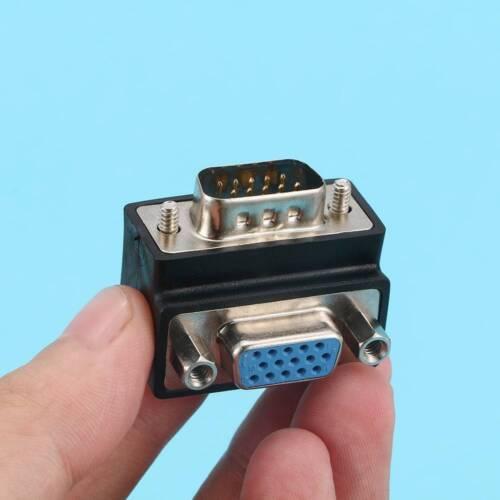 90 Degree Right Angle 15 Pin VGA SVGA Male to Female Converter Angle Adapter