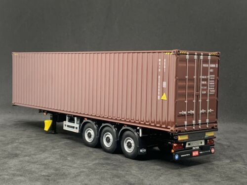 WSI Modelscontenedor remolque 3 Eje 40ft Marrón contenedor Escala 1:50
