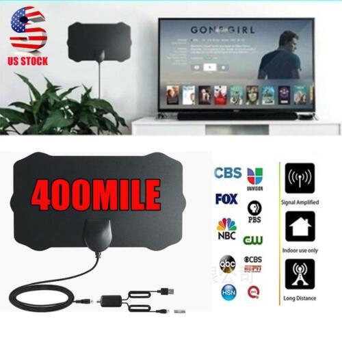 400 Mile Range Antenna TV Digital HD Skywire 4K Antena HDTV 1080P Amplifier