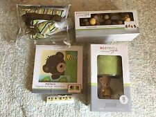 Set Crib Bedding Baby 5 Piece Nursery Girl Boy Sweet Honey Bear Brown Green Gift