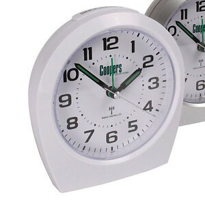 white big digit analogue radio controlled alarm clock aa battery powered. Black Bedroom Furniture Sets. Home Design Ideas