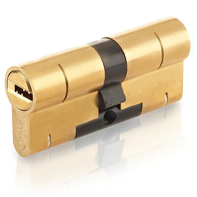 Polished Brass Yale Superior Anti-Snap Keyed-Alike Euro Cylinder Pair 90mm 40//50