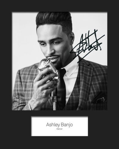 FREE DELIVERY ASHLEY BANJO #3 10x8 SIGNED Mounted Photo Print