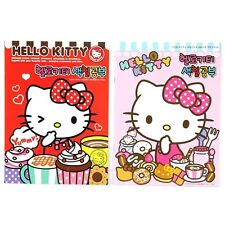 Sanrio Hello Kitty Color Coloring Book : Red and Pink 2pcs 1 Set