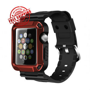 Iwatch Strap Band Screen Protector Case 42mm Apple Watch Series 3 2 1 Red Black Ebay