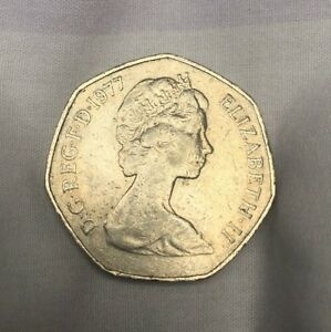 1977 50 pence coin