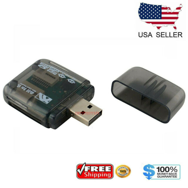 New USB 2.0 All in 1 Multi Memory Card Reader For Micro SD SDHC TF M2 MMC MS PRO