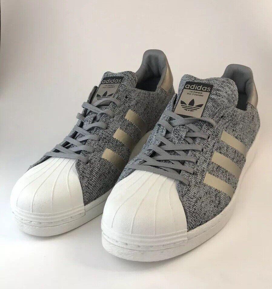 Adidas Superstar PK BOOST Primeknit grå grå grå vit Ultra skor BB8973 män Sz 9.5  billig butik