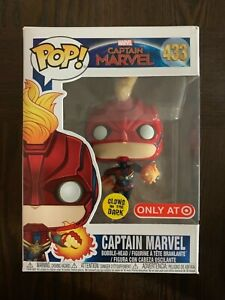 See pictures Funko Pop!-Captain Marvel #433 Glow In The Dark Special Edition