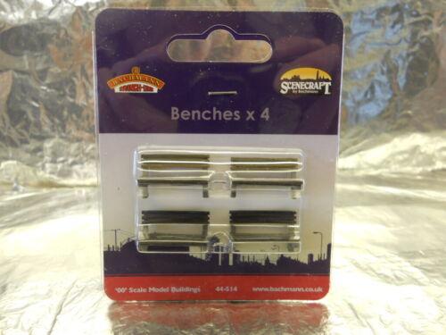 1:76 00 Scale Pre-Built ** Bachmann 44-514 Scenecraft Benches 4pcs